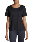 Fairmont Mesh-Back Technical Tee, Black