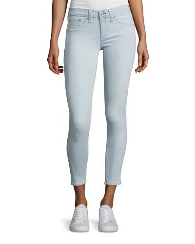 Mid-Rise Skinny Capri Jeans, Indigo