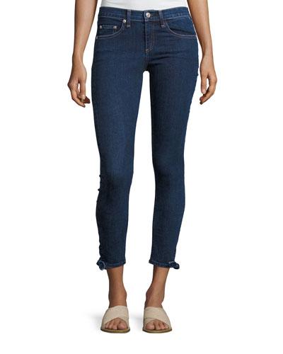 Steve Paz Mid-Rise Tie Hem Capri Jeans