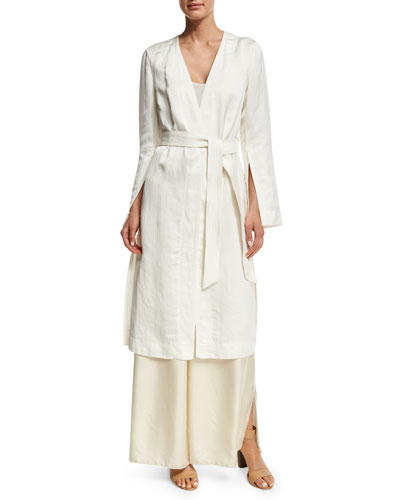 Archer Belted Topper Jacket, Ivory