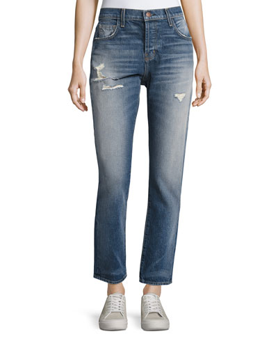 The Slouchy Skinny Denim Jeans, Indigo