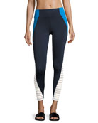Tread Performance Tight/Leggings, Blue/White