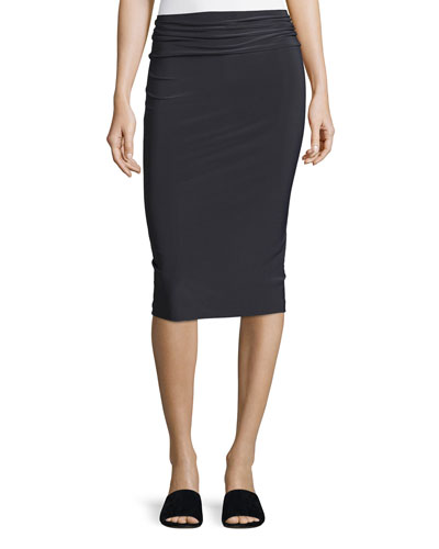 Straight Pencil Skirt, Pewter