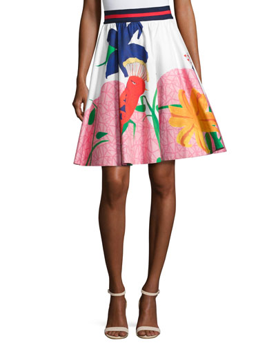 Earla High-Waist Flare Skirt, Multi