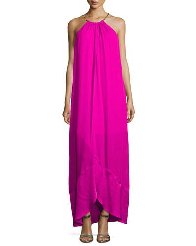 Poinciana Sleeveless Maxi Dress, Pink