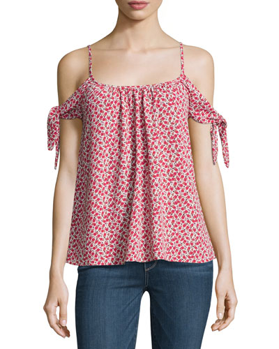Montego Bay Floral-Print Top, Multi Pattern