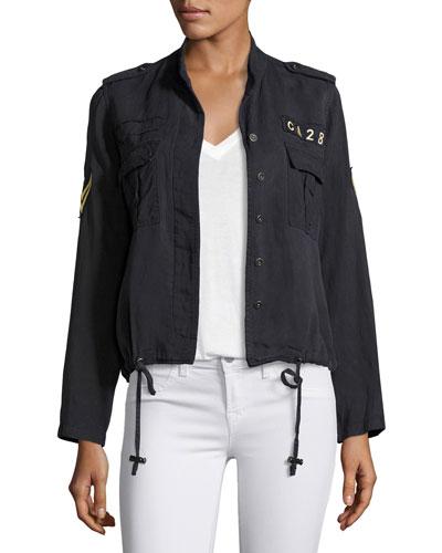 Maverick Military-Style Jacket, Indigo