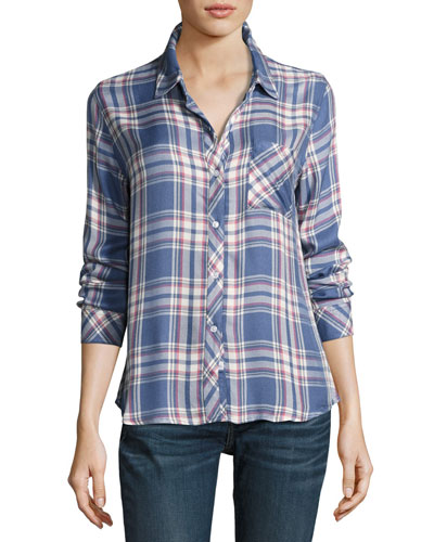 Hunter Plaid Shirt, Blue Pattern