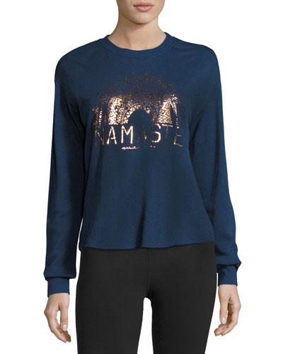 Namaste Sun Rays Sweatshirt, Indigo