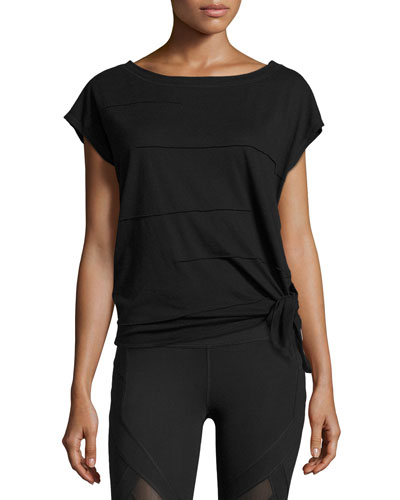Pacific Pintuck Wedge Tee, Black