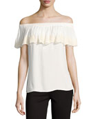 Trinity Off-the-Shoulder-Top, White