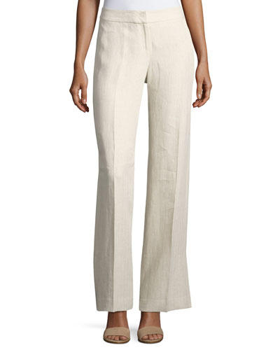 Kenmare Havana Wide-Leg Linen Pants, Plus Size