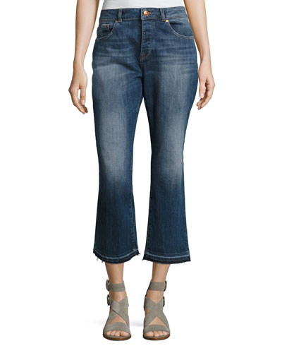 Patti High-Rise Straight Denim Jeans, Indigo