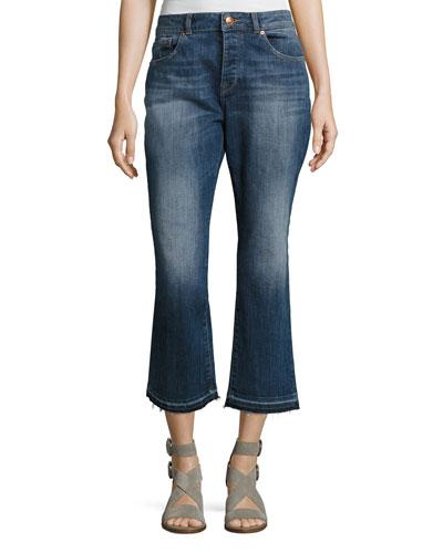 Patti High-Rise Straight Denim Jeans, Indigo