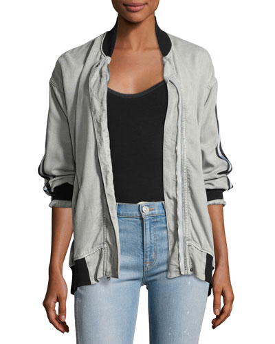 Nova Varsity Jacket, Gray