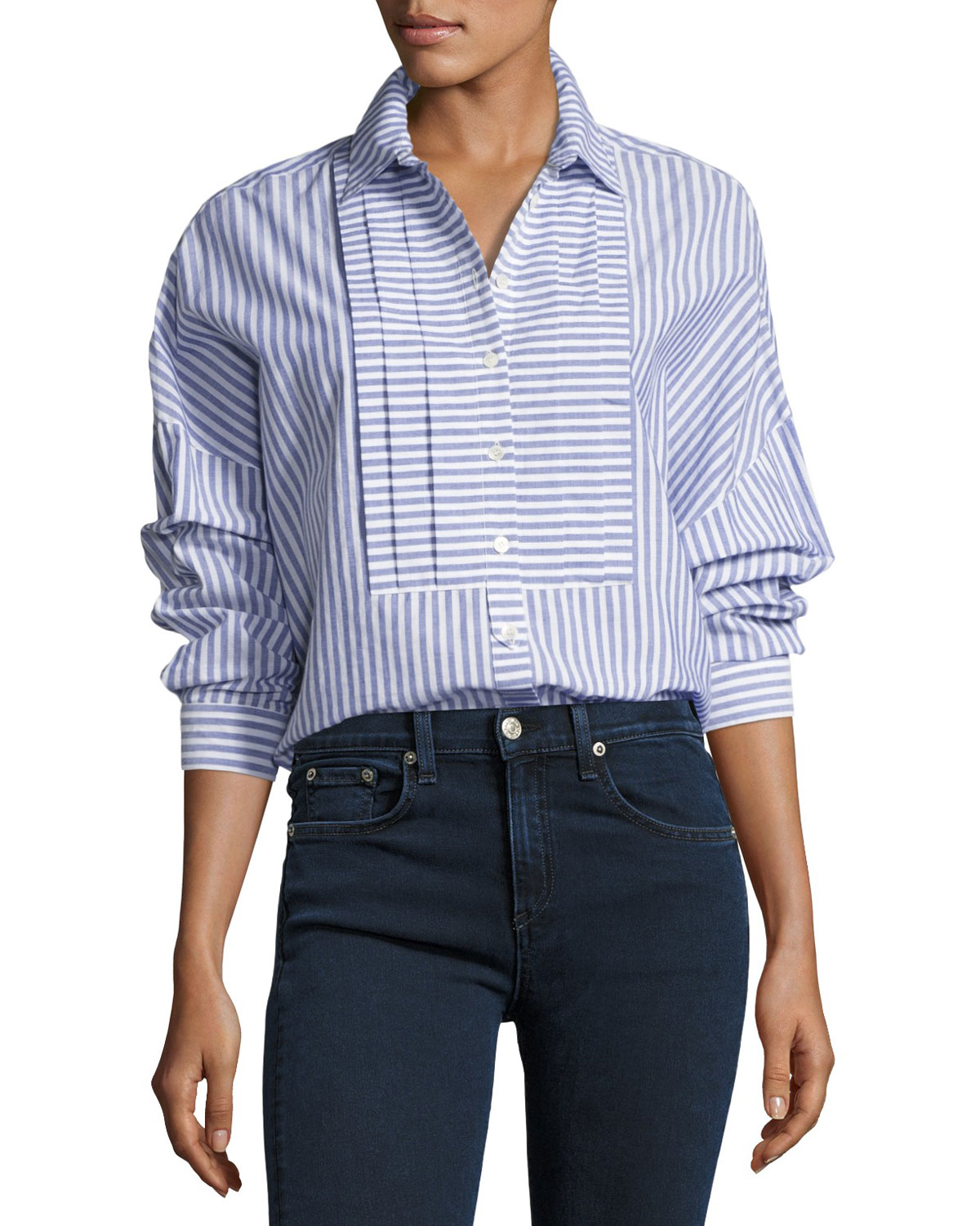 Posy Striped Boyfriend Shirt