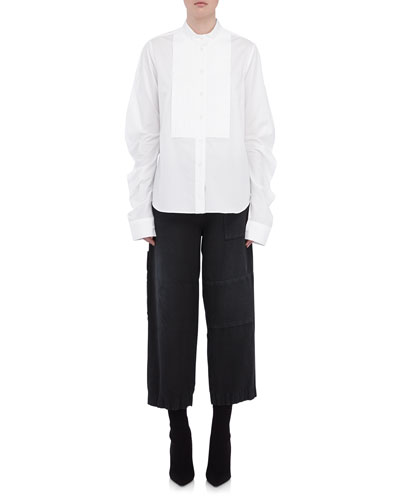 Stretch-Cotton Shirt w/ Bib