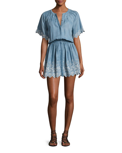 Charlie Chambray Dress, Blue