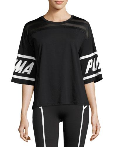 Burnout Athletic T-Shirt, Black