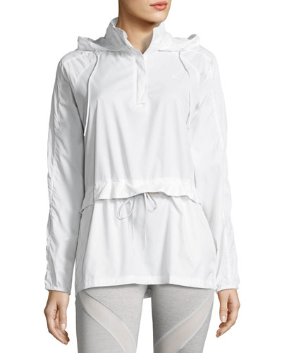 Half-Zip T7 Wind-Resistant Jacket, White