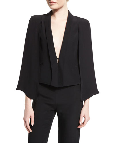 Deep-V Cape Jacket, Black