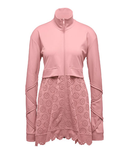 Tricot Jacket W/ Embroidered Skirt, Pink