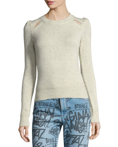 Klee Cutout Crewneck Sweater