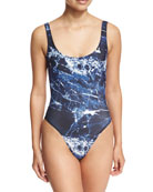 Mio Super-Low Back One-Piece Swimsuit