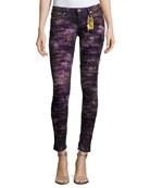Marilyn Distressed Denim Jeans, Purple