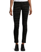 Marilyn Distressed Skinny Jeans, Black
