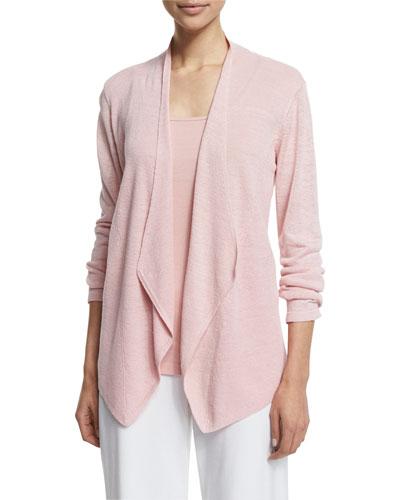 Organic Linen Angled Cardigan, Plus Size