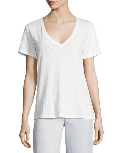 Dayne Nebulous Jersey T-Shirt Top, White