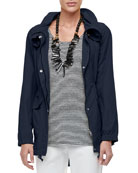 Eileen Fisher Petite High-Collar Weather-Resistant Utility Jacket