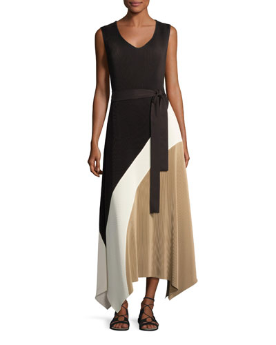 Celia Sleeveless Amorous Pleated Maxi Dress