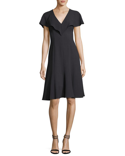 Cisco Fit-and-Flare Scuba Dress, Equinox
