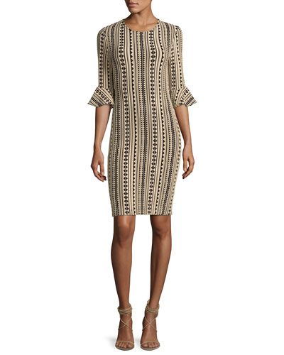 Bluxome Striped Stretch Jersey Dress, Black