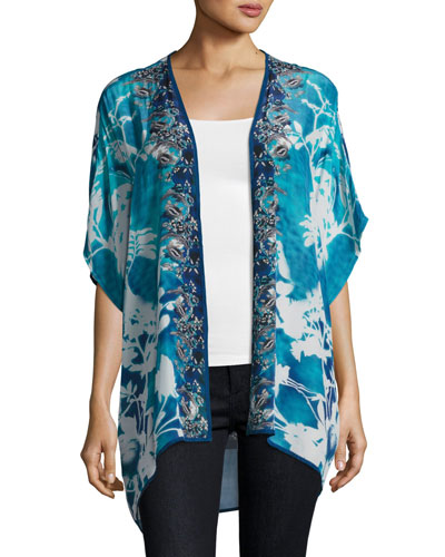 Noelle Printed Jacket, Blue