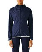 Nylon Packable Performance Jacket, Navy