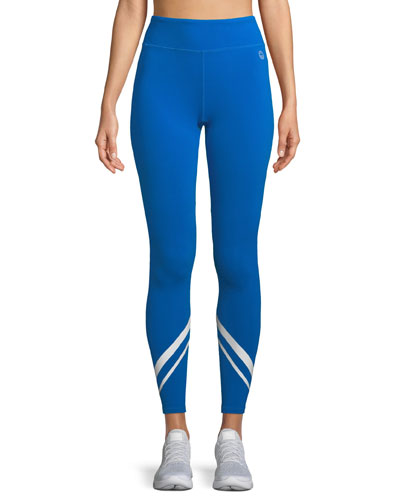 Tory Sport Chevron Full-Length Performance Leggings