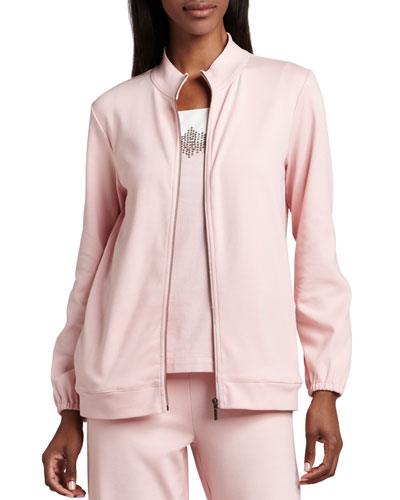 Interlock Zip Jacket, Plus Size