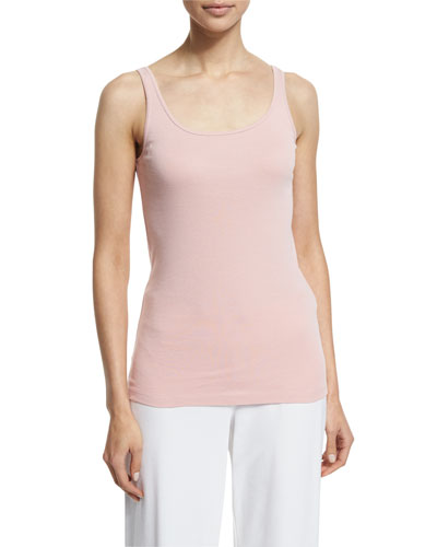 Scoop-Neck Long Slim Tank, Petite