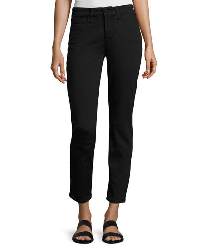 Clarissa Twill Ankle Pants, Black