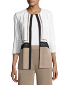 Colorblock 3/4-Sleeve Jacket