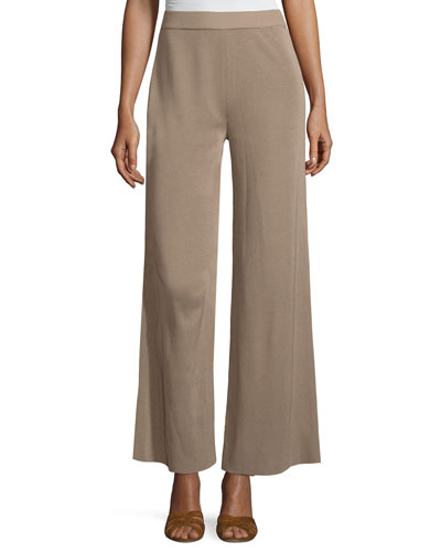 Demi Palazzo Pants, Light Brown, Petite