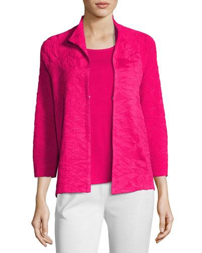 Textured 3/4-Sleeve Jacket