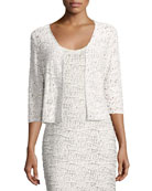 Blaire Variegated Knit Crop Cardigan