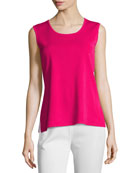 Scoop-Neck Tank, Rose