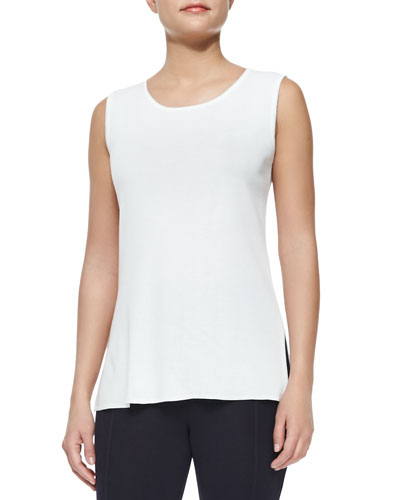 Sleeveless Long Tank Top, Plus Size