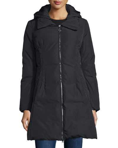 Renne Down Matte Coat, Black