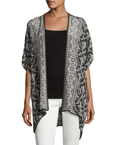 Noelle Printed Jacket, Noir